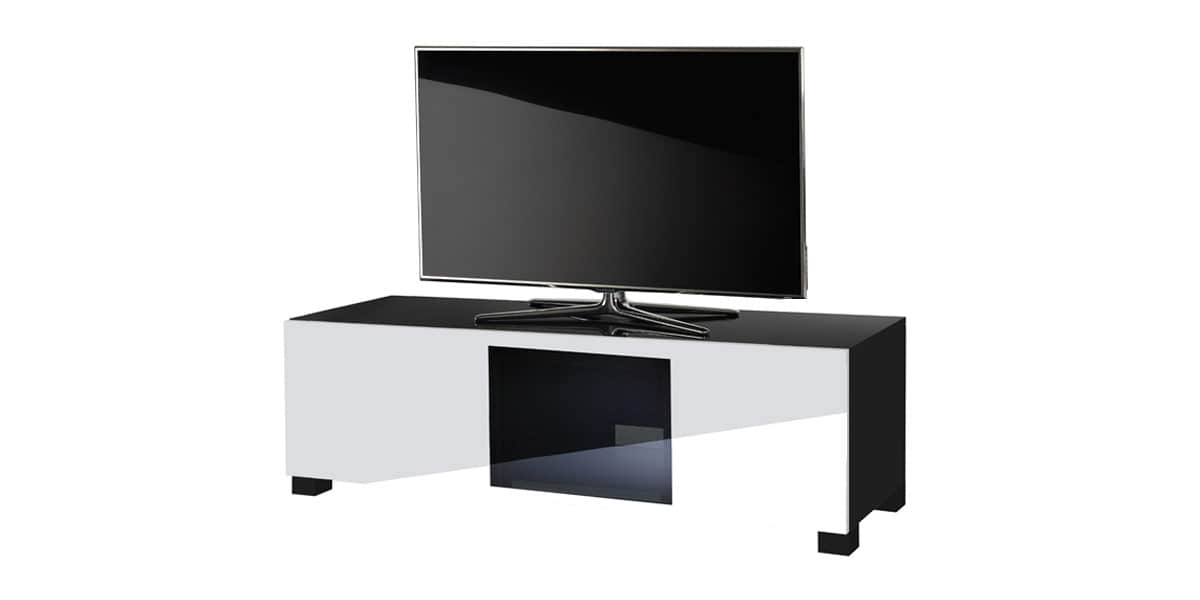 ultimate s line120 noir et blanc meubles tv ultimate sur easylounge. Black Bedroom Furniture Sets. Home Design Ideas