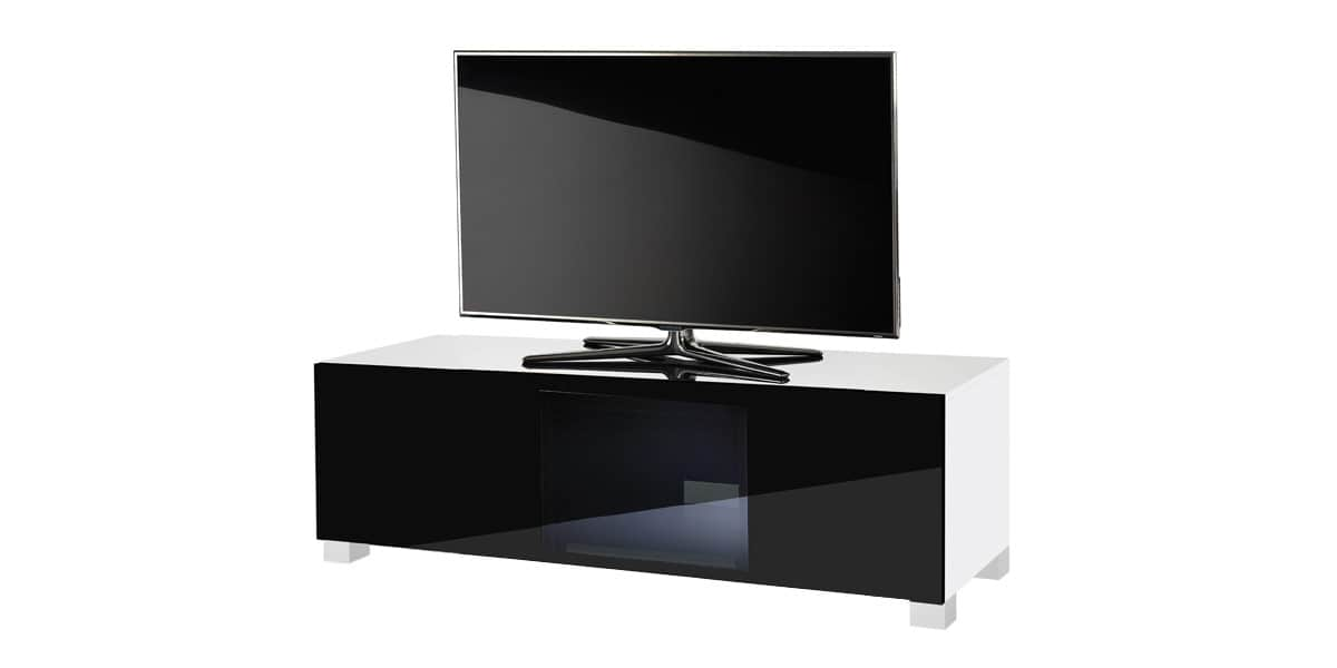 ultimate s line120 blanc et noir meubles tv ultimate sur easylounge. Black Bedroom Furniture Sets. Home Design Ideas