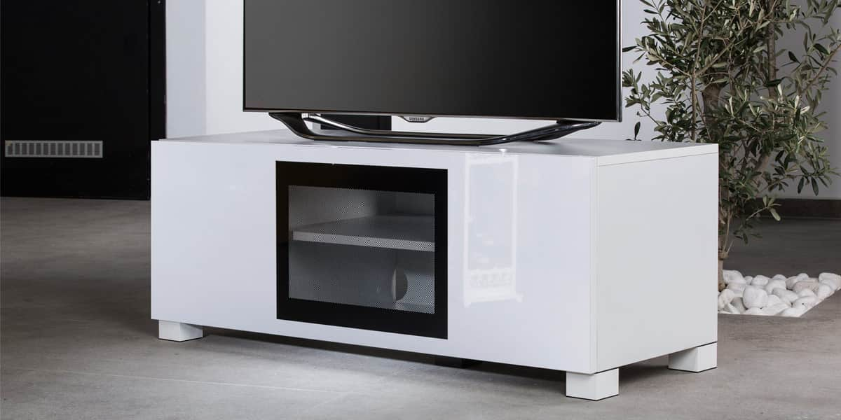 ultimate s line120 blanc meubles tv ultimate sur easylounge. Black Bedroom Furniture Sets. Home Design Ideas