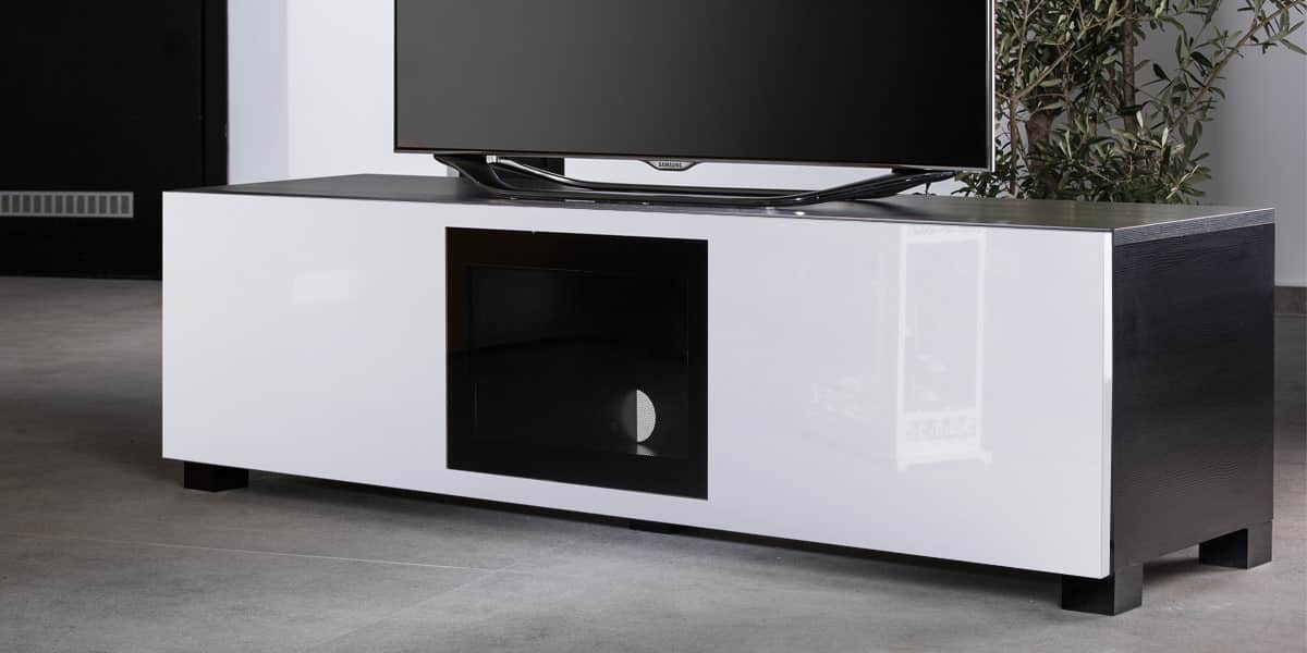 ultimate s line160 noir et blanc meubles tv ultimate sur easylounge. Black Bedroom Furniture Sets. Home Design Ideas