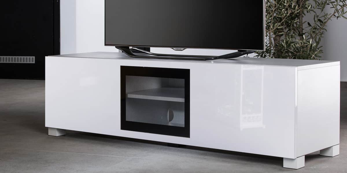 ultimate s line160 blanc meubles tv ultimate sur easylounge. Black Bedroom Furniture Sets. Home Design Ideas