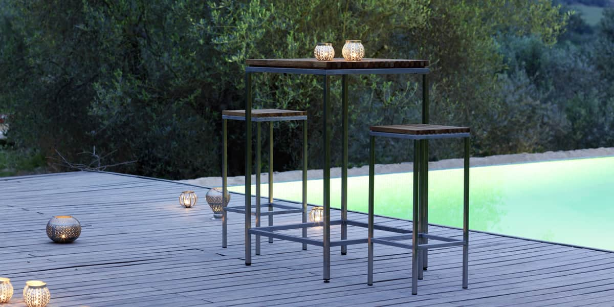 viteo table haute 69x69cm tables de jardin sur easylounge. Black Bedroom Furniture Sets. Home Design Ideas
