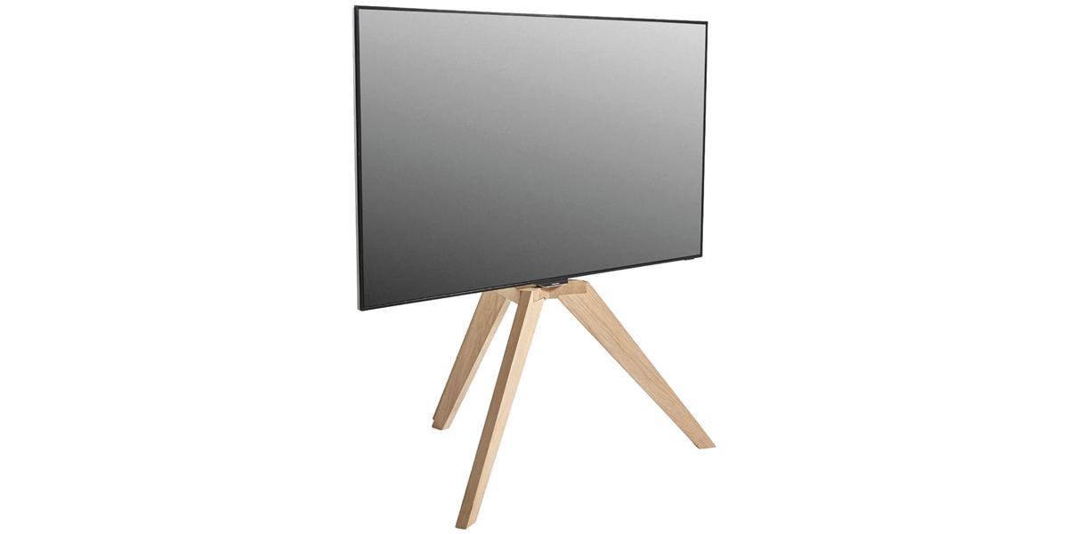 Vogel 39 s next op1 bois clair supports tv sur pied sur easylounge for Support tv bois