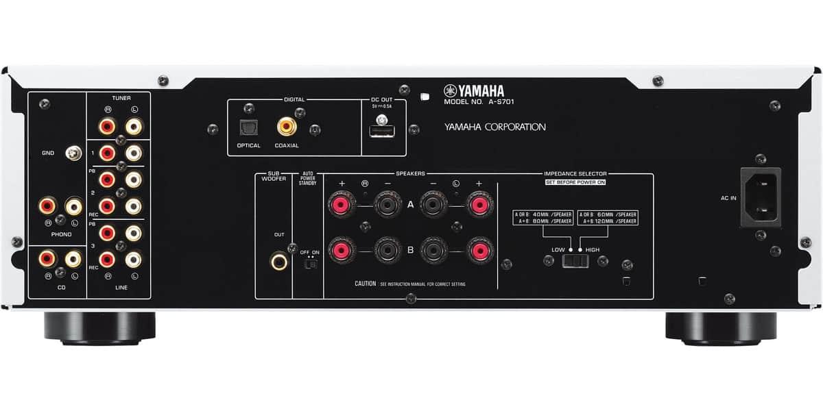 yamaha a s701 noir amplis hifi int gr s sur easylounge. Black Bedroom Furniture Sets. Home Design Ideas