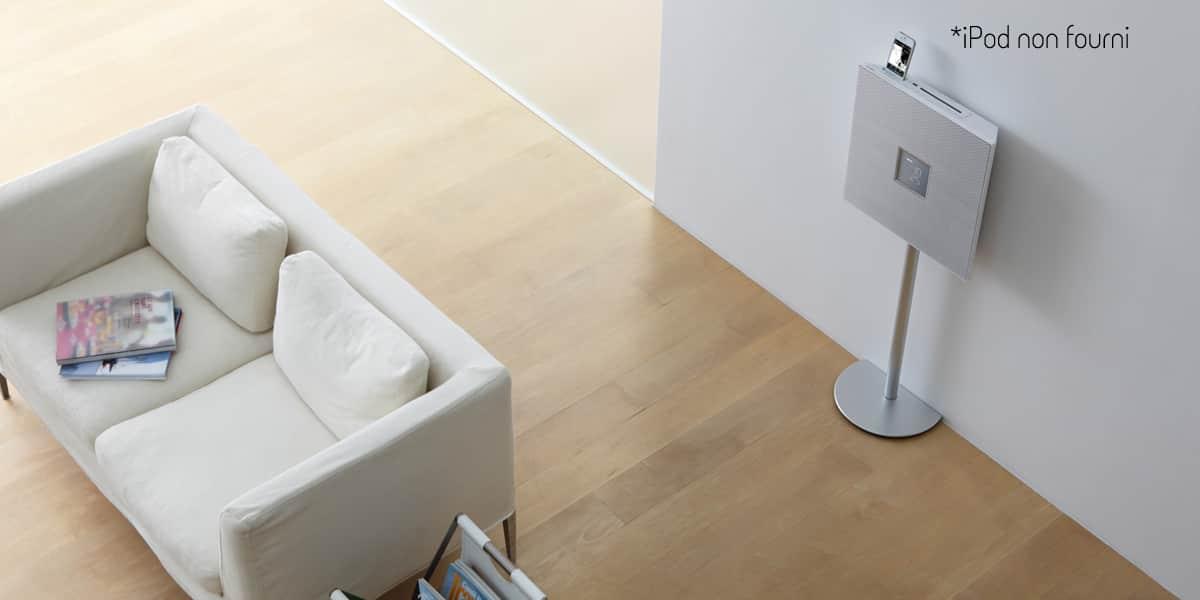 Yamaha isx 800 blanc mini chaines hifi sur easylounge - Chaine hifi design murale ...