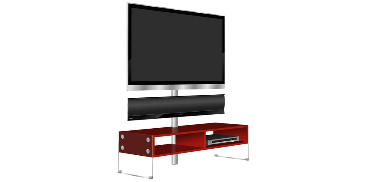 Yamaha kinsei rouge meubles tv divers sur easylounge for Meuble support tv