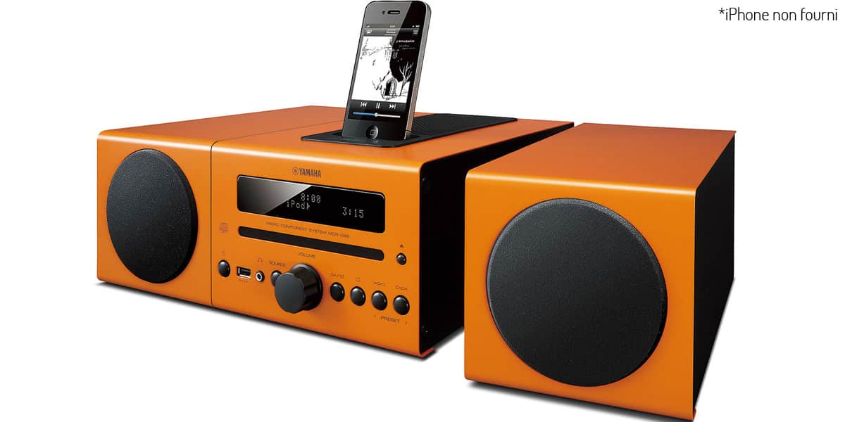 yamaha mcr 042 orange mini chaines hifi sur easylounge. Black Bedroom Furniture Sets. Home Design Ideas