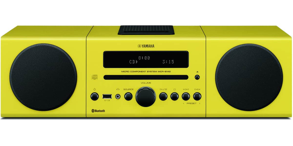 yamaha mcr b142 jaune mini chaines hifi sur easylounge. Black Bedroom Furniture Sets. Home Design Ideas
