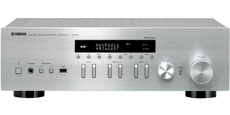 yamaha r n402d silver amplis hifi connect s sur easylounge. Black Bedroom Furniture Sets. Home Design Ideas