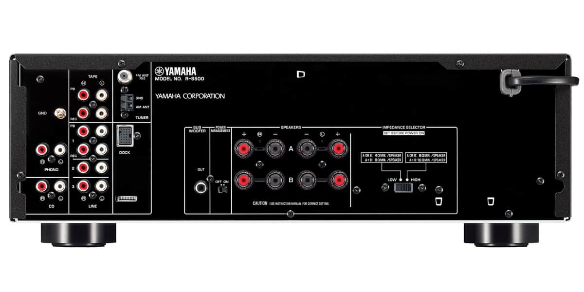 yamaha r s500 noir amplis hifi int gr s sur easylounge. Black Bedroom Furniture Sets. Home Design Ideas