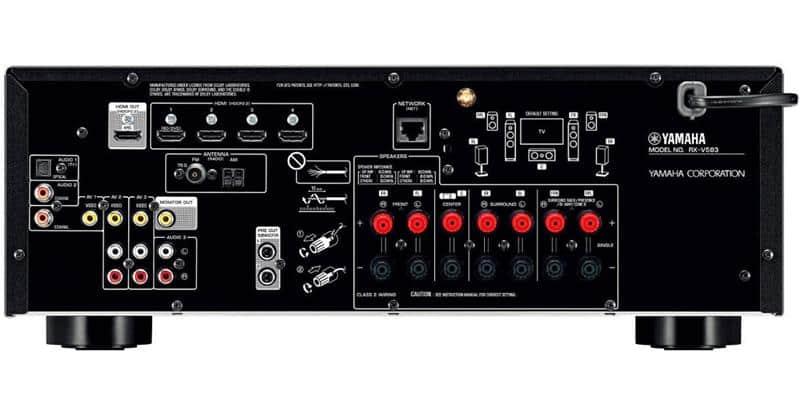 Yamaha RX-V583 Noir