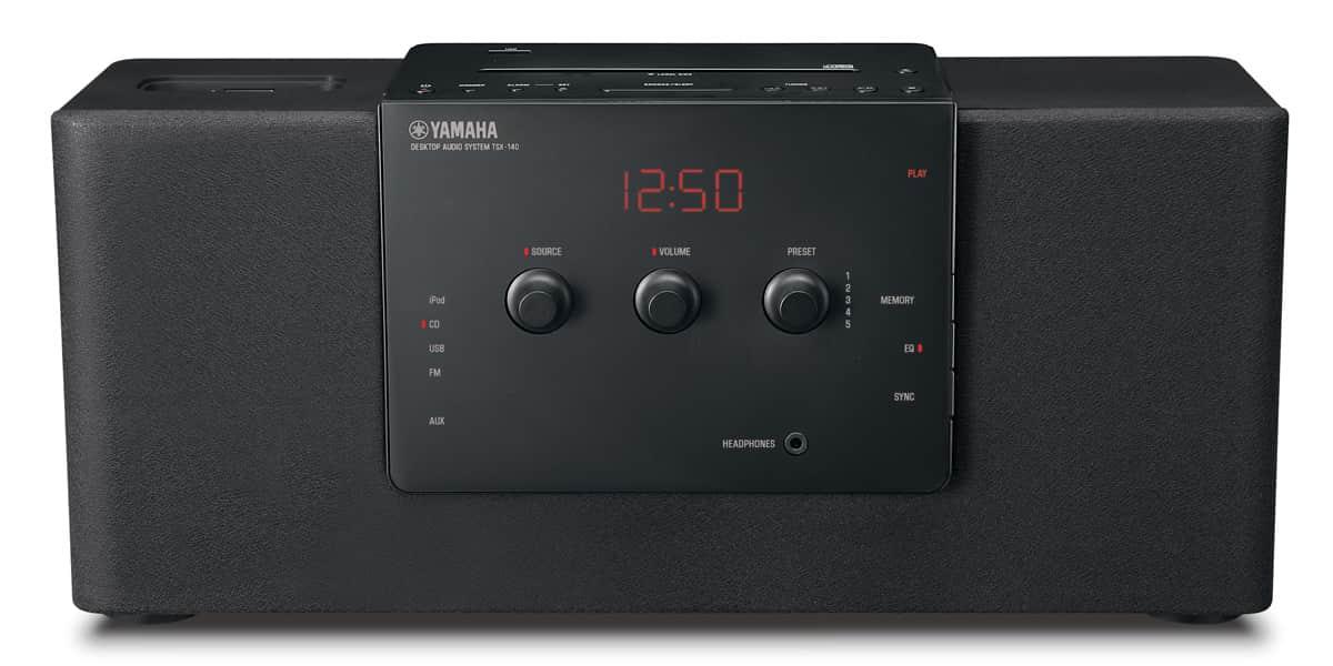 yamaha tsx 140 noir enceintes ipod iphone sur easylounge. Black Bedroom Furniture Sets. Home Design Ideas