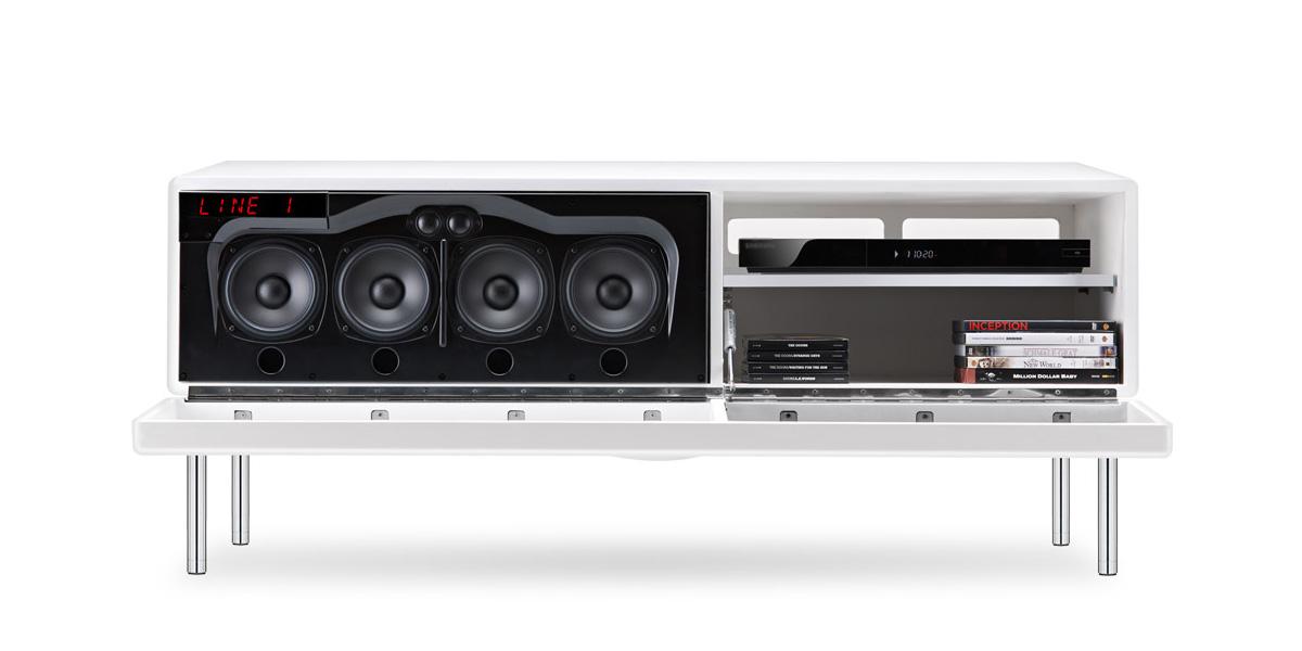 Bien choisir son meuble tv guides d 39 achat easylounge - Meuble tv avec barre de son integree ...